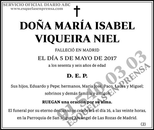 María Isabel Viqueira Niel